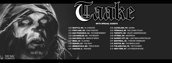 Taake US tour 17 PR