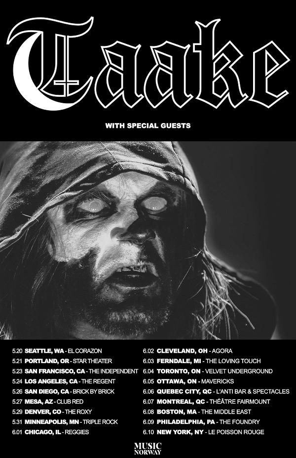 Taake US tour 17 PR1